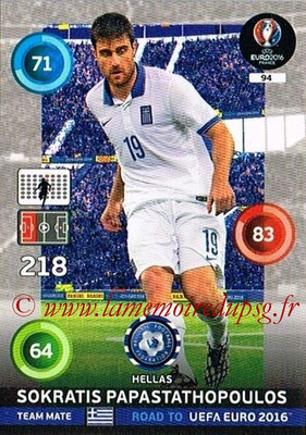 Panini Road to Euro 2016 Cards - N° 094 - Sokratis PAPASTATHOPOULOS (Grèce)