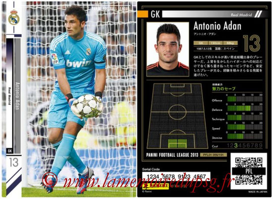 Panini Football League 2013 - PFL01 - N° 056 - Antonio Adan ( Real Madrid )