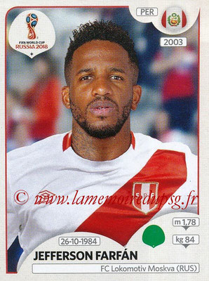 2018 - Panini FIFA World Cup Russia Stickers - N° 249 - Jefferson FARFAN (Pérou)