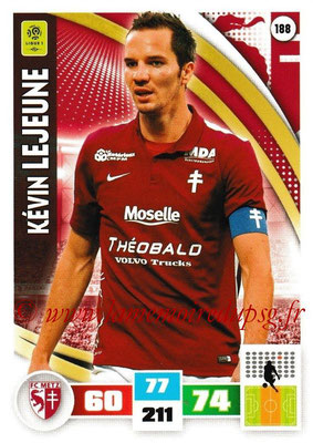 2016-17 - Panini Adrenalyn XL Ligue 1 - N° 188 - Kevin LEJEUNE (Metz)