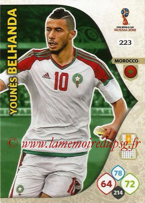 2018 - Panini FIFA World Cup Russia Adrenalyn XL - N° 223 - Younés BELHANDA (Maroc)