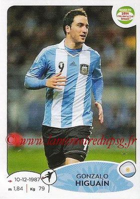 2014 - Panini Road to FIFA World Cup Brazil Stickers - N° 070 - Gonzalo HIGUAIN (Argentine)