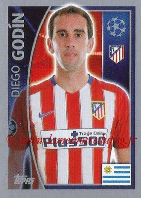 2015-16 - Topps UEFA Champions League Stickers - N° 178 - Diegio GODIN (Club Atlético de Madrid)