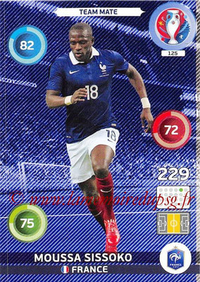 Panini Euro 2016 Cards - N° 125 - Moussa SISSOKO (France)