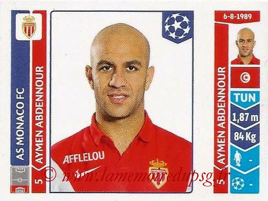 2014-15 - Panini Champions League N° 238 - Aymen ABDENOUR (AS Monaco)