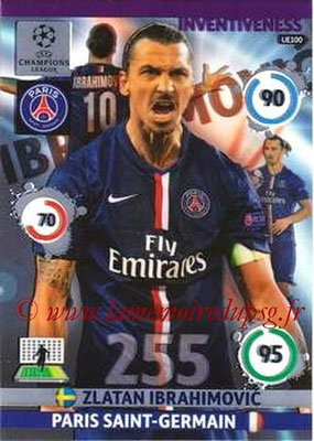 2014-15 - Adrenalyn XL champions League Update edition N° UE100 - Zlatan IBRAHIMOVIC (Paris Saint-Germain) (Inventiveness)