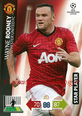 2012-13 - Adrenalyn XL champions League N° 148 - Wayne ROONEY (Manchester United FC) (Star Player)