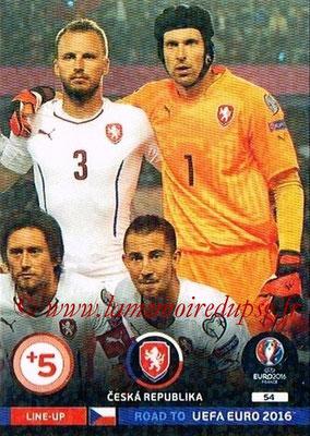 Panini Road to Euro 2016 Cards - N° 054 - Equipe République Tchèque 3