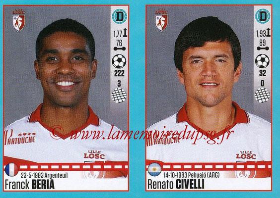 2016-17 - Panini Ligue 1 Stickers - N° 276 + 277 - Franck BERIA + Renato CIVELLI (Lille)