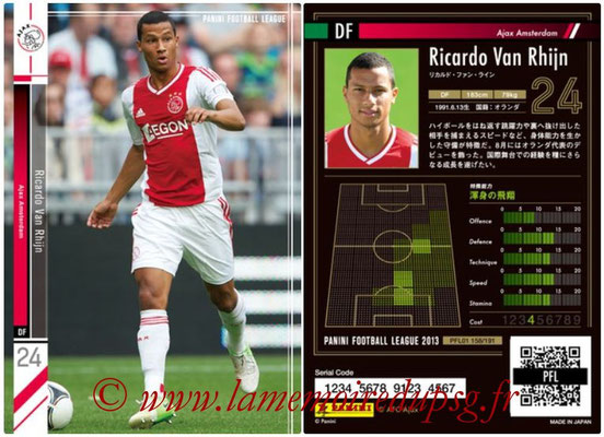 Panini Football League 2013 - PFL01 - N° 158 - Ricardo Van Rhijn ( Ajax Amsterdam )