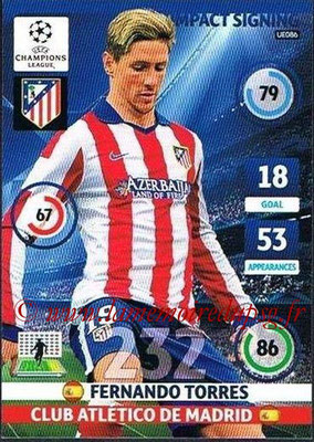 2014-15 - Adrenalyn XL champions League Update edition N° UE086 - Fernano TORRES (Atletico Madrid) (Impact Signing)