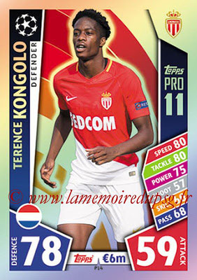 2017-18 - Topps UEFA Champions League Match Attax - N° P14 - Terence KONGOLO (AS Monaco) (Pro 11)