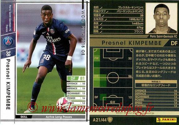 2013-14 - WCCF - N° A21 - Presnel KIMPEMBE (Paris Saint-Germain)