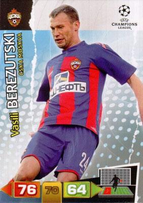 2011-12 - Panini Champions League Cards - N° 097 - Vassi BEREZVTSKI (CSKA Moscou)