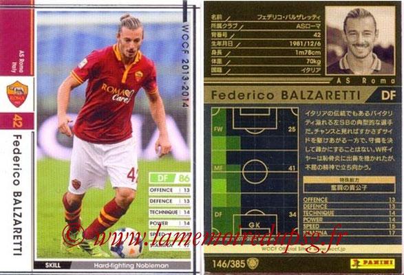 2013-14 - WCCF - N° 146 - Federico BALZARETTI (AS Roma)