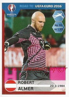 Panini Road to Euro 2016 Stickers - N° 193 - Robert ALMER (Autriche)
