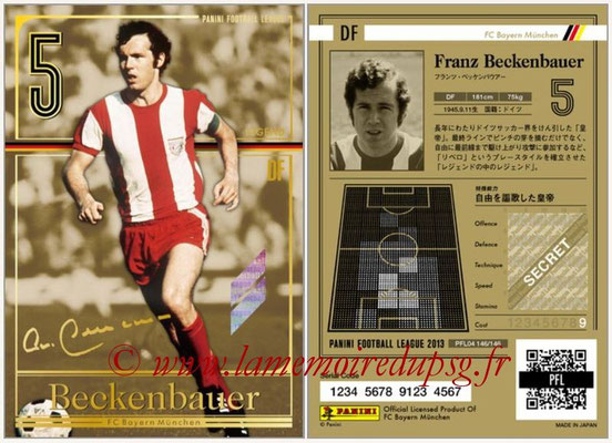 Panini Football League 2013 - PFL04 - N° 146 - Franz Beckenbauer (Bayern Munich) (Legend)