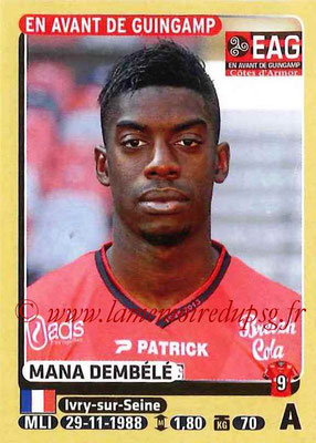 2015-16 - Panini Ligue 1 Stickers - N° 141 - Mana DEMBELE (EA Guingamp)