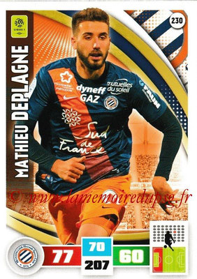 2016-17 - Panini Adrenalyn XL Ligue 1 - N° 230 - Mathieu DEPLAGNE (Montpellier)