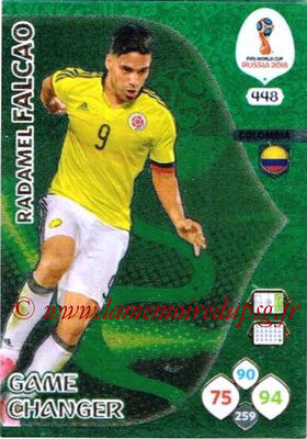 2018 - Panini FIFA World Cup Russia Adrenalyn XL - N° 448 - Radamel FALCAO (Colombie) (Game Changer)