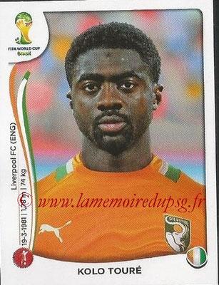 2014 - Panini FIFA World Cup Brazil Stickers - N° 225 - Kolo TOURE (Côte d'Ivoire)