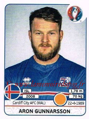 Panini Euro 2016 Stickers - N° 619 - Aron GUNNARSSON (Islande)