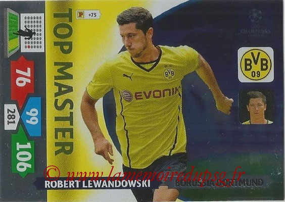 2013-14 - Adrenalyn XL champions League N° 356 - Robert LEWANDOWSKI (Borussia Dortmund) (Top Master)