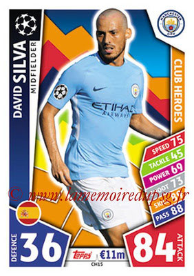 2017-18 - Topps UEFA Champions League Match Attax - N° CH15 - David SILVA (Manchester City FC) (Club Heroes)