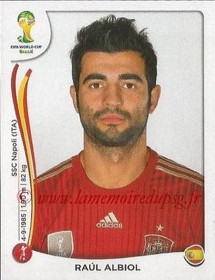 2014 - Panini FIFA World Cup Brazil Stickers - N° 113 - Raul ALBIOL (Espagne)