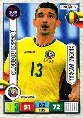 2018 - Panini Road to FIFA World Cup Russia Adrenalyn XL - N° ROU17 - Claudio KESERU (Roumanie)