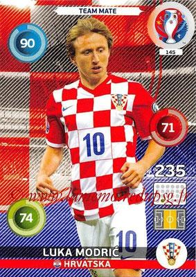 Panini Euro 2016 Cards - N° 145 - Luka MODRIC (Croatie)
