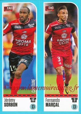 2016-17 - Panini Ligue 1 Stickers - N° 222 + 223 - Jérémy SORBON + Fernando MARCAL (Guingamp)