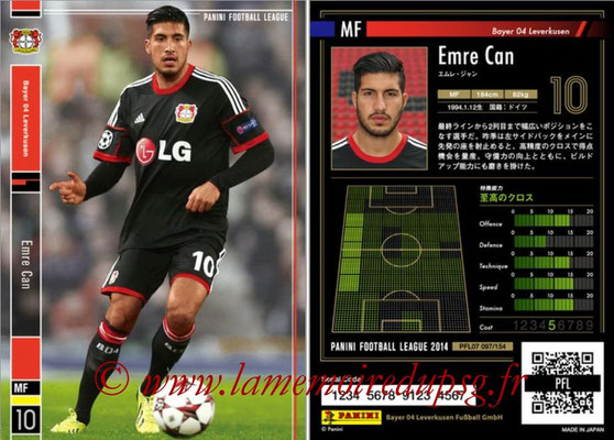 Panini Football League 2014 - PFL07 - N° 097 - Emre CAN (Bayer Leverkusen)