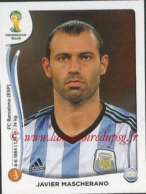 2014 - Panini FIFA World Cup Brazil Stickers - N° 421 - Javier MASCHERANO (Argentine)