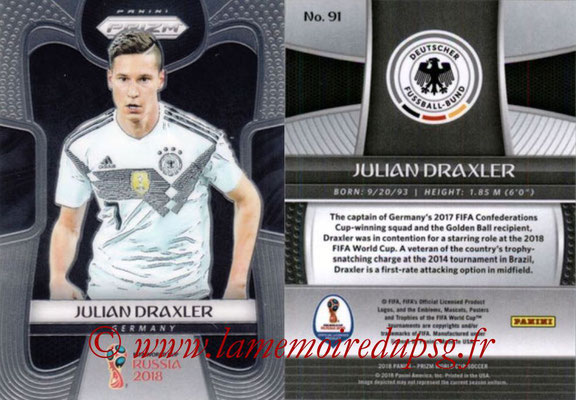 2018 - Panini Prizm FIFA World Cup Russia - N° 091 - Julian DRAXLER (Allemagne)