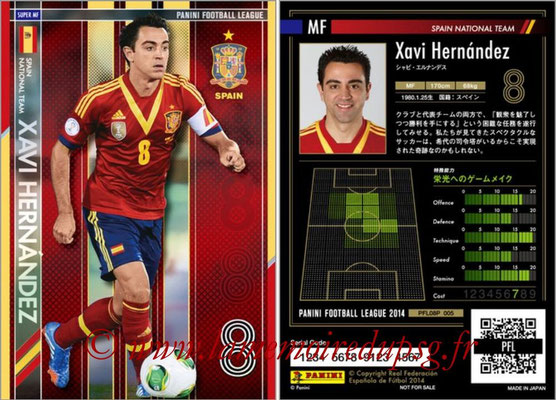 Panini Football League 2014 - PFL08P - N° 005 - Xavi HERNANDEZ (Espagne) (Super MF)