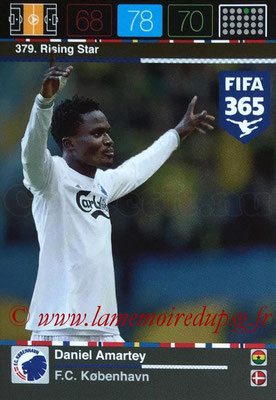 2015-16 - Panini Adrenalyn XL FIFA 365 - N° 379 - Daniel AMARTEY (FC Copenhague) (Rising Star) (Nordic Edition)