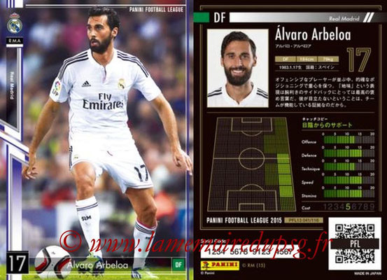 Panini Football League 2015 - PFL13 - N° 041 - Alvaro ARBEOLA (Real Madrid)