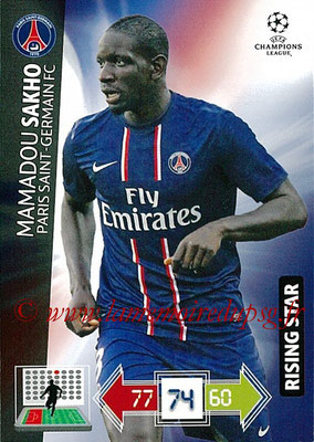 2012-13 - Adrenalyn XL champions League N° 206 - Mamadou SAKHO (Paris Saint-Germain) (Rising Star)