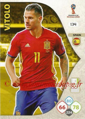 2018 - Panini FIFA World Cup Russia Adrenalyn XL - N° 134 - VITOLO (Espagne)