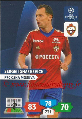 2013-14 - Adrenalyn XL champions League N° 128 - Sergei IGNASHEVICH (PFC CSKA Moscou)