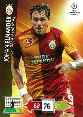 2012-13 - Adrenalyn XL champions League N° 107 - Johan ELMANDER (Galatasaray AS)