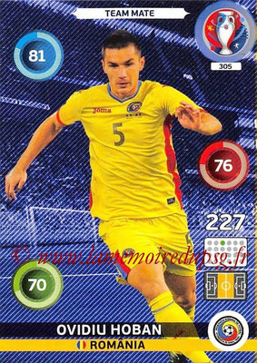 Panini Euro 2016 Cards - N° 305 - Ovidiu HOBAN (Roumanie)