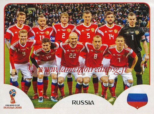 2018 - Panini FIFA World Cup Russia Stickers - N° 033 - Equipe Russie