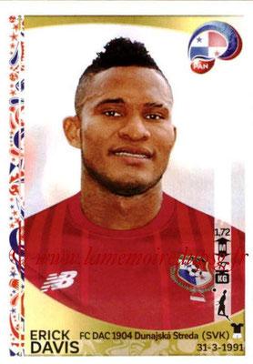 Panini Copa America Centenario USA 2016 Stickers - N° 358 - Erick DAVIS (Panama)