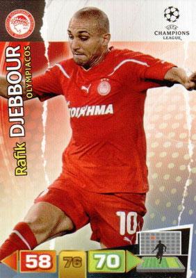 2011-12 - Panini Champions League Cards - N° 190 - Rafik DJEBBOUR (Olympiacos)
