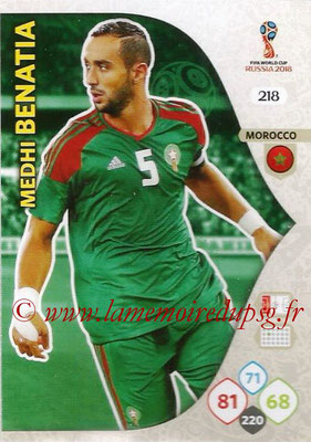2018 - Panini FIFA World Cup Russia Adrenalyn XL - N° 218 - Medhi BENATIA (Maroc)