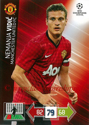 2012-13 - Adrenalyn XL champions League N° 139 - Nemanja VIDIC (Manchester United FC)