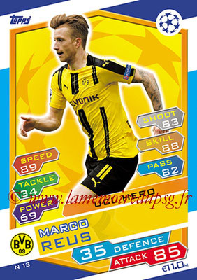 2016-17 - Topps UEFA Champions League Match Attax - N° N13 - Marco REUS (Borussia Dortmund) (UCL Hero) (Nordic Edition)