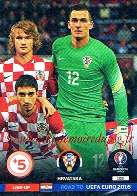 Panini Road to Euro 2016 Cards - N° 108 - Equipe Croatie 3